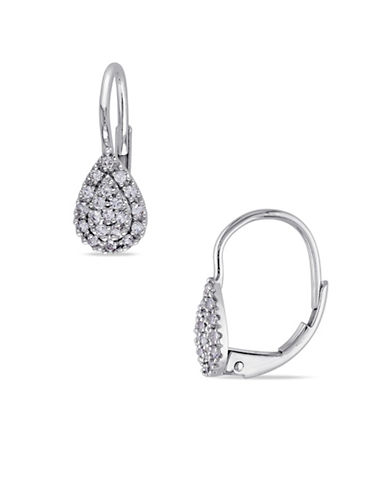 Concerto 14K White Gold 0.33 Total Carat Weight Sapphire Earrings-WHITE-One Size