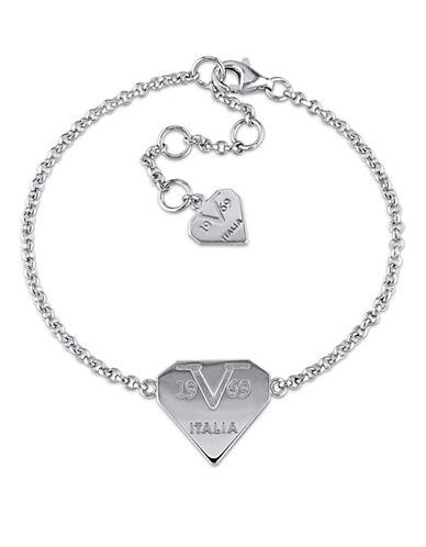V19.69 Italia Logomark Sterling Silver Charm Bracelet-SILVER-One Size