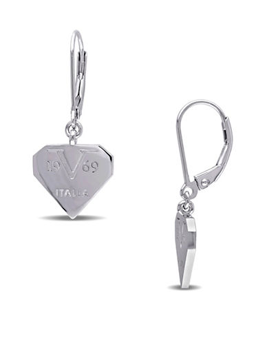 V19.69 Italia Heart Logomark Sterling Silver Earrings-SILVER-One Size