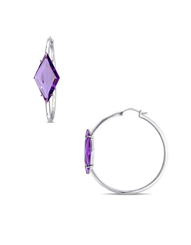 V19.69 Italia Amethyst Prism Hoop Earrings-PURPLE-One Size