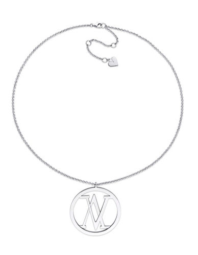 V19.69 Italia Sterling Silver Insignia Necklace-WHITE-One Size