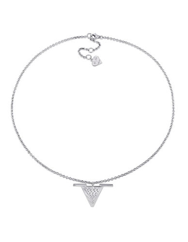 V19.69 Italia Sterling Silver Emblem Necklace-WHITE-One Size