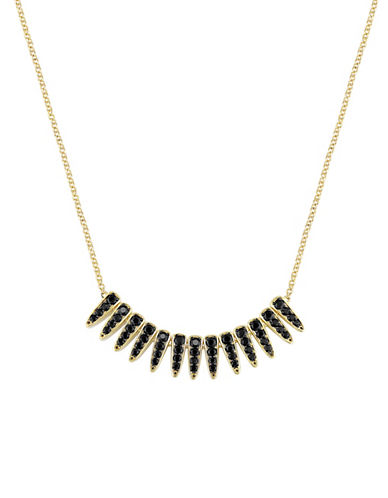 V19.69 Italia 18K Goldplated Black Sapphire Mystique Necklace-BLACK-One Size