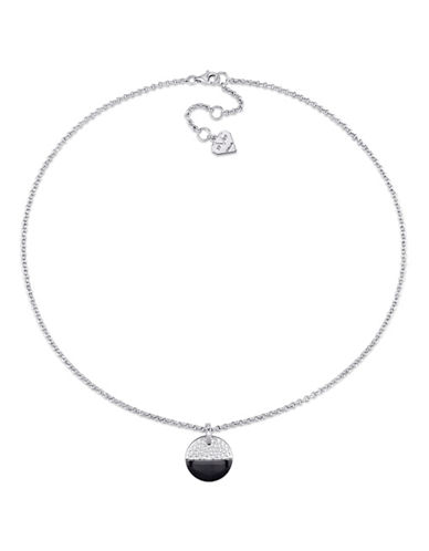 V19.69 Italia Moonlight Black Rhodium Sterling Silver Pendant Necklace-SILVER-One Size