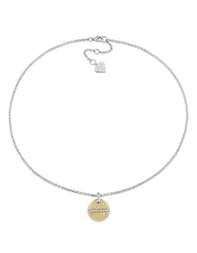 V19.69 Italia Moonlight 18K Yellow Goldplated Pendant Necklace-WHITE-One Size