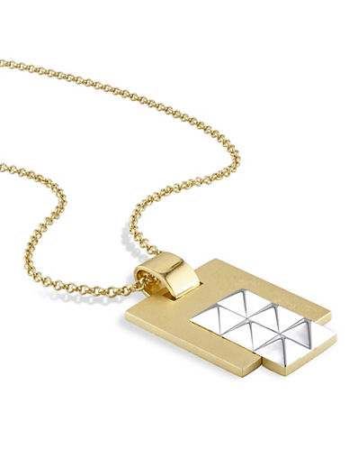 V19.69 Italia 18K Yellow Goldplated Geometric Pendant Necklace-GOLD-One Size