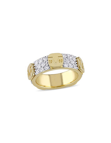 V19.69 Italia Logomark White Sapphire Stacking Ring-GOLD-7