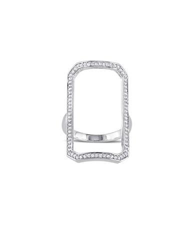 V19.69 Italia White Sapphire Geometric Ring-SILVER-9