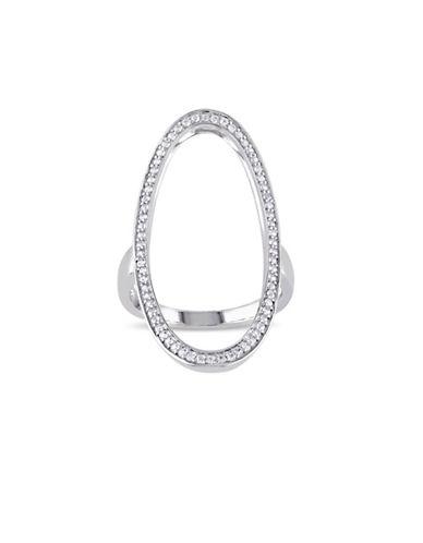 V19.69 Italia White Sapphire Geometric Ring-SILVER-7