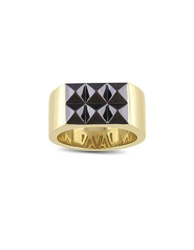 V19.69 Italia Geometric 18K Goldplated Sterling Silver Ring-GOLD-10