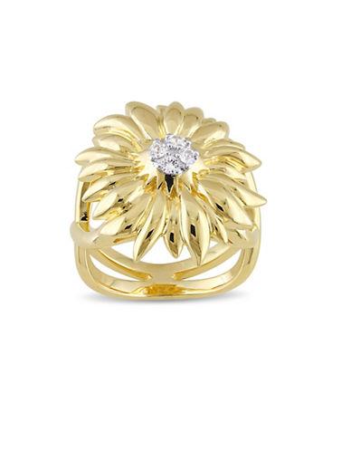 V19.69 Italia White Sapphire Logo Flower Ring-GOLD-8
