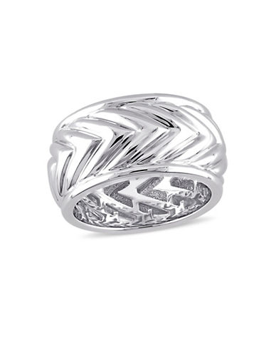V19.69 Italia Sterling Silver Zig-Zag Ring-WHITE-9
