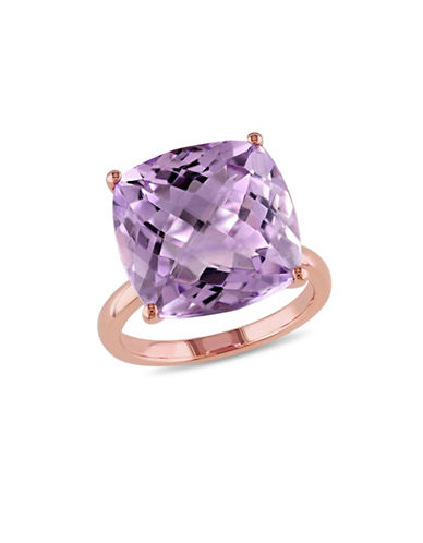 Concerto 14K Rose Gold and Pink Amethyst Cocktail Ring-PURPLE-8