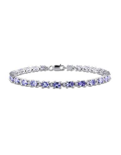 Concerto Sterling Silver Tanzanite and White Topaz Bracelet-MULTI-One Size