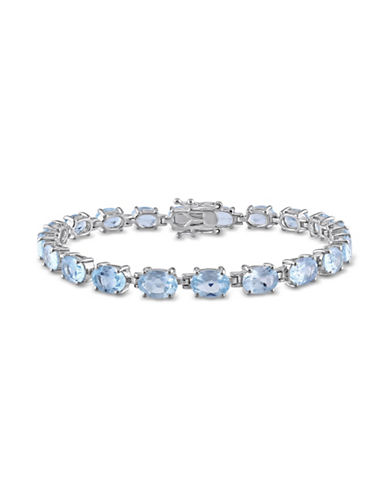 Concerto Blue Topaz Sterling Silver Tennis Bracelet-TOPAZ-One Size