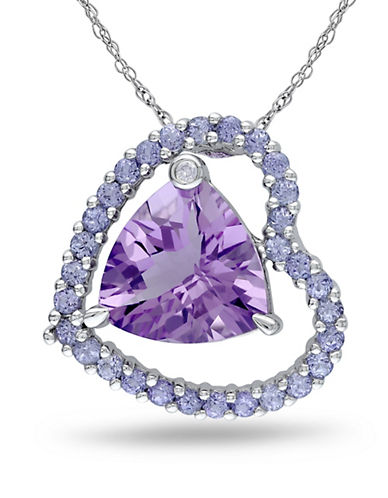 Concerto Amethyst Tanzanite and 0.005 TCW Diamond Accent Heart Necklace-AMETHYST-One Size
