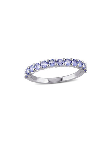 Concerto Tanzanite Sterling Silver Eternity Ring-BLUE-6