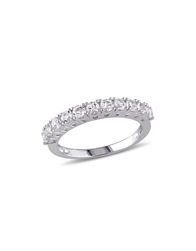 Concerto Sterling Silver White Topaz Anniversary Ring-WHITE-7
