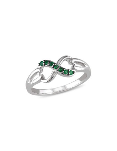 Concerto Emerald Sterling Silver Infinity Ring-EMERALD-5