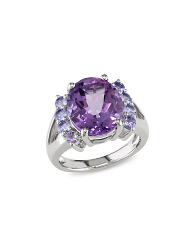 Concerto Sterling Silver Amethyst and Tanzanite Ring-MULTI-5