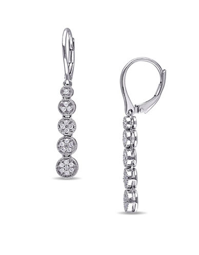 Concerto 0.498 TCW Graduated Diamond Earrings in Sterling Silver-DIAMOND-One Size