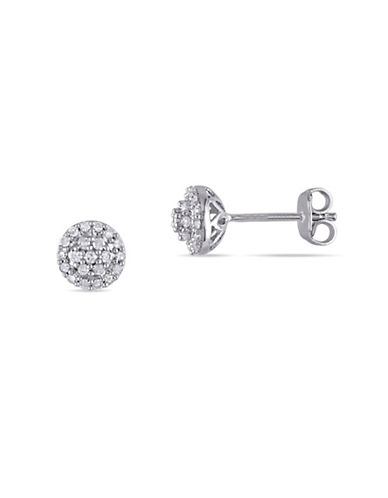 Concerto 0.252 TCW Diamond Halo Stud Earrings in Sterling Silver-DIAMOND-One Size