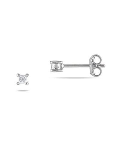 Concerto Sterling Silver 0.15 TCW Diamond Stud Earrings-DIAMOND-One Size