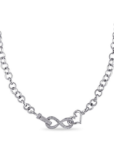 Concerto 0.095 TCW Diamond Infinity Heart Necklace in Sterling Silver-DIAMOND-One Size