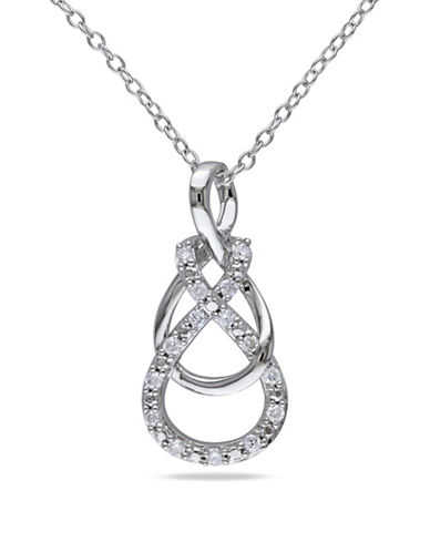 Concerto Sterling Silver Intertwined Necklace with 0.15 TCW Diamonds-DIAMOND-One Size