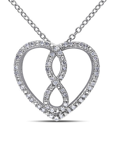 Concerto 0.245 TCW Diamond Infinity Heart Necklace in Sterling Silver-DIAMOND-One Size