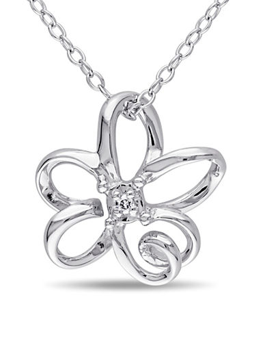 Concerto Sterling Silver Pendant Necklace with 0.01 TCW Diamonds-DIAMOND-One Size