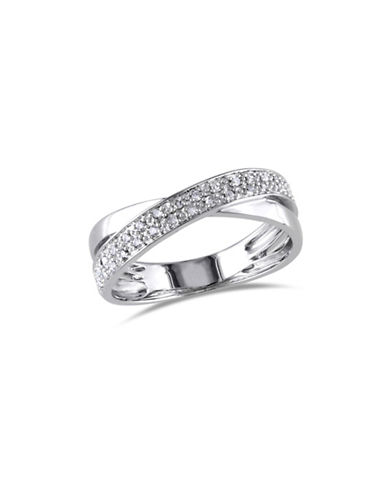 Concerto Sterling Silver Crossover Ring with 0.16 TCW Diamonds-DIAMOND-6