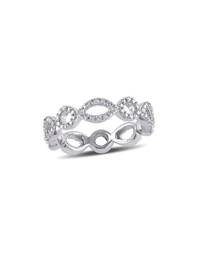 Concerto 0.05 TCW Diamond Geometric Eternity Ring in Sterling Silver-DIAMOND-9