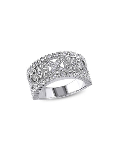 Concerto Sterling Silver Filigree Ring with 0.245 TCW Diamonds-DIAMOND-6