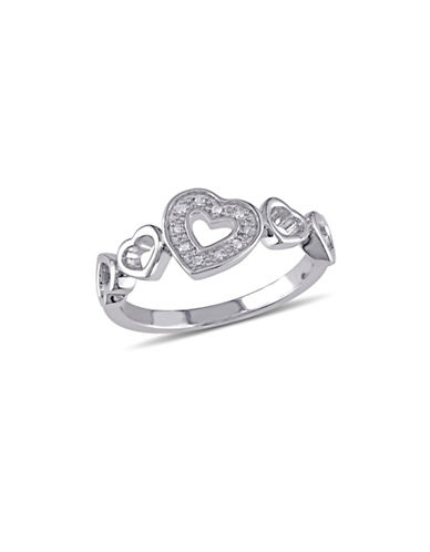 Concerto Sterling Silver Heart Ring with 0.03 TCW Diamonds-DIAMOND-9