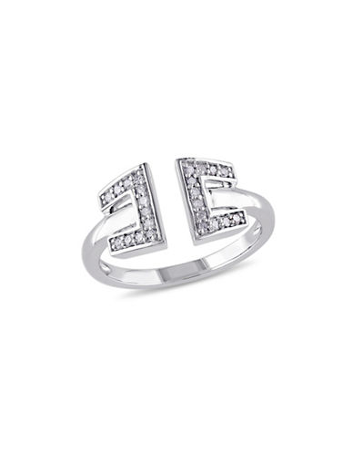 Concerto 0.12 TCW Diamond Open Ring in Sterling Silver-DIAMOND-8