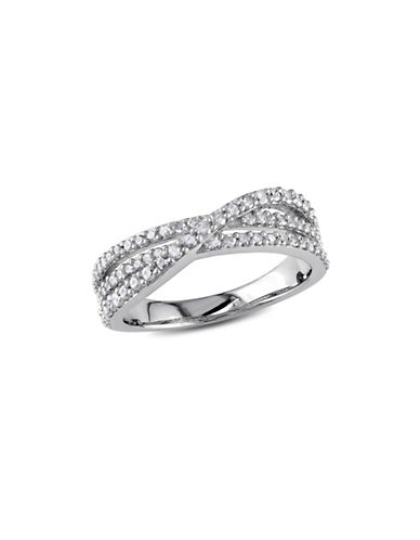 Concerto 0.47 TCW Diamond Crossover Ring in Sterling Silver-DIAMOND-8