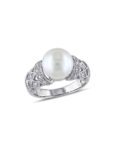 Concerto 9-9.5mm Pearl and 0.10TCW Diamond Vintage Ring-PEARL-5