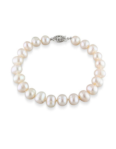 Concerto 7.5-8mm Freshwater Pearl and Sterling Silver Bracelet-WHITE-One Size