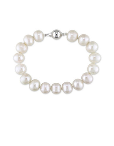 Concerto 10-11mm Freshwater Pearl and Sterling Silver Bracelet-WHITE-One Size