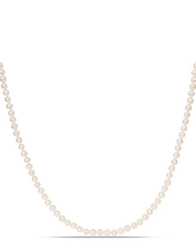 Concerto 5-6mm Freshwater Pearl and Sterling Silver Necklace-WHITE-One Size