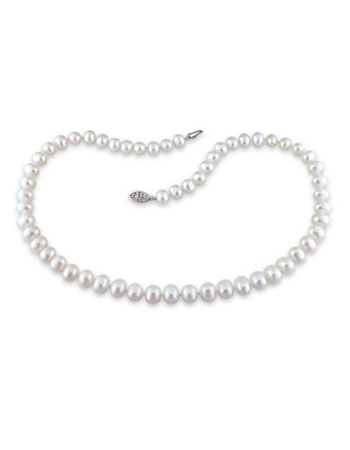 Concerto 6.5-7mm Freshwater Pearl and Sterling Silver Necklace-WHITE-One Size