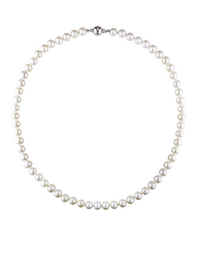 Concerto 7-7.5MM White Cultured Freshwater Pearl and Sterling Silver Necklace-WHITE-One Size