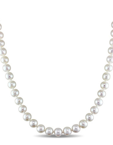 Concerto 8-9mm Freshwater Pearl and Sterling Silver Necklace-WHITE-One Size