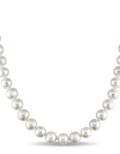 Concerto 7.5-8mm Freshwater Pearl and Sterling Silver Necklace-WHITE-One Size