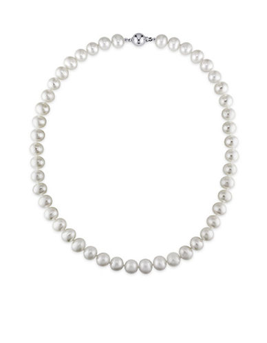 Concerto Freshwater 9-10mm Pearl and Sterling Silver Necklace-WHITE-One Size