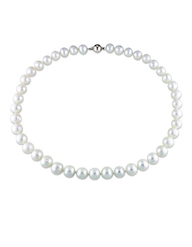 Concerto 10-11mm Freshwater Pearl and Sterling Silver Necklace-WHITE-One Size