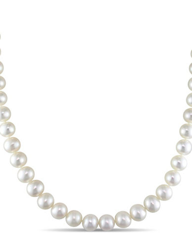 Concerto 7-7.5mm Freshwater Pearl and 14K White Gold Necklace-WHITE-One Size