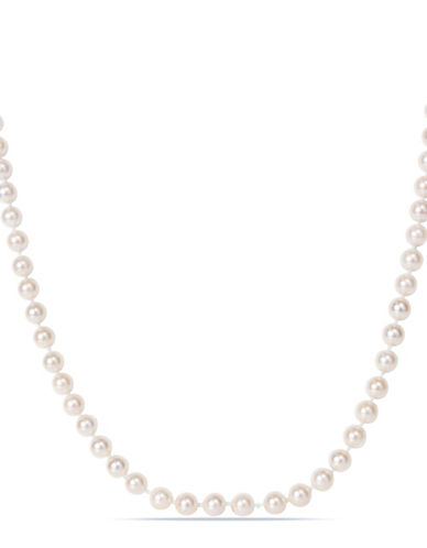 Concerto 6-6.5mm Akoya Pearl and 14K Yellow Gold Necklace-WHITE-One Size