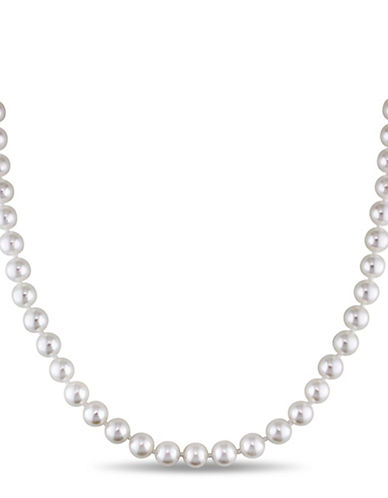 Concerto 7-7.5mm Akoya Pearl and 14K Yellow Gold Necklace-WHITE-One Size